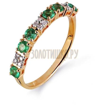 Кольцо с изумрудами и бриллиантами Т141014989_3