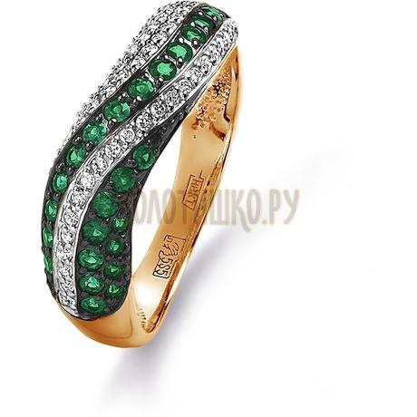 Кольцо с изумрудами и бриллиантами Т141015281_2