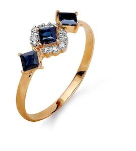Кольцо с сапфирами и бриллиантами Т141015369_2
