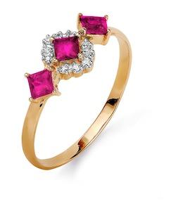 Кольцо с изумрудами и бриллиантами Т141015369_3