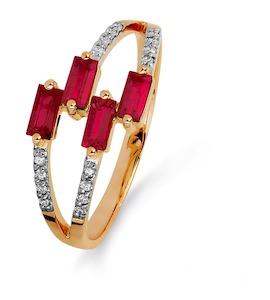 Кольцо с рубинами и бриллиантами Т141015375_2