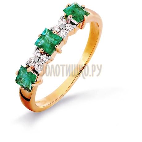 Кольцо с изумрудами и бриллиантами Т141015376_3