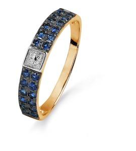 Кольцо с изумрудами и бриллиантами Т141015404