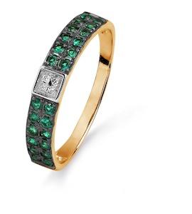 Кольцо с сапфирами и бриллиантами Т141015404_3