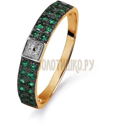 Кольцо с изумрудами и бриллиантами Т141015404_3