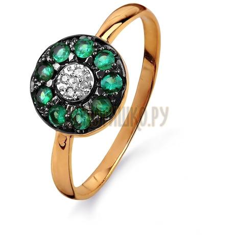 Кольцо с изумрудами и бриллиантами Т141015406_2