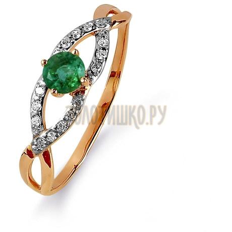 Кольцо с изумрудом и бриллиантами Т141015436_3