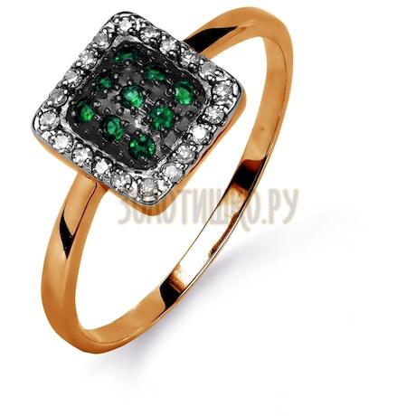 Кольцо с изумрудами и бриллиантами Т141015489_2