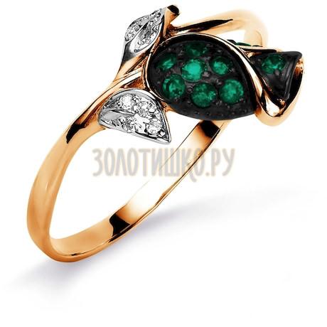 Кольцо с изумрудами и бриллиантами Т141015581_3