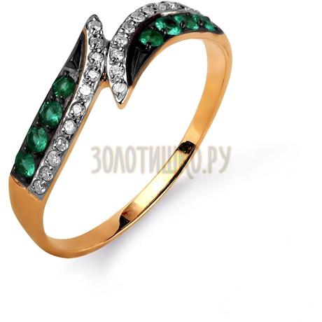 Кольцо с изумрудами и бриллиантами Т141015615_2