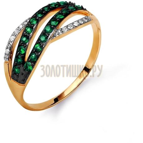 Кольцо с изумрудами и бриллиантами Т141015617_3