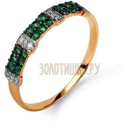 Кольцо с изумрудами и бриллиантами Т141015618_2