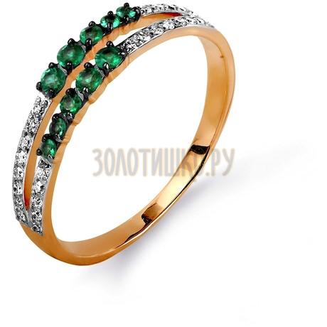 Кольцо с изумрудами и бриллиантами Т141015619