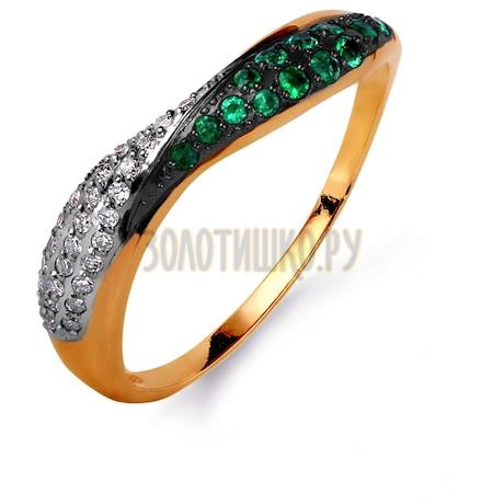 Кольцо с изумрудами и бриллиантами Т141015621_3