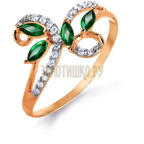 Кольцо с изумрудами и бриллиантами Т141015740