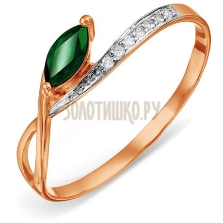 Кольцо с изумрудом и бриллиантами Т141015761_3