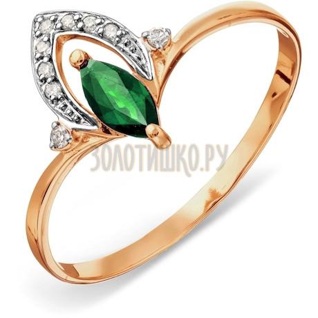 Кольцо с изумрудом и бриллиантами Т141015763_3
