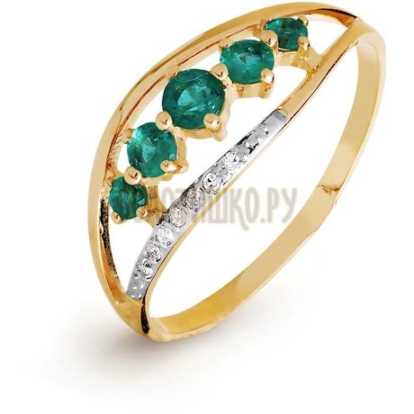 Кольцо с изумрудами и бриллиантами Т141015765_3