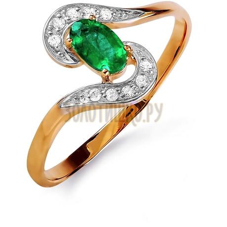 Кольцо с изумрудом и бриллиантами Т141015852_3