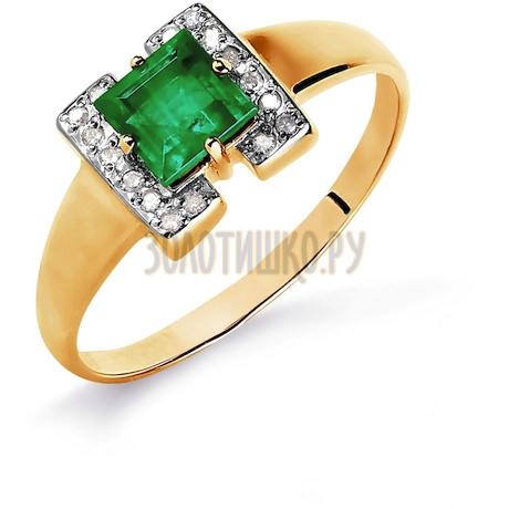 Кольцо с изумрудом и бриллиантами Т141016081_2