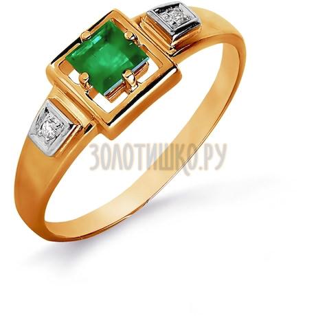 Кольцо с изумрудом и бриллиантами Т141016086_3