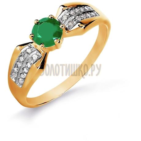 Кольцо с изумрудом и бриллиантами Т141016093_3