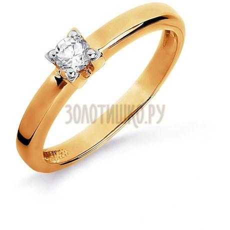 Кольцо с бриллиантом Т141016159-4