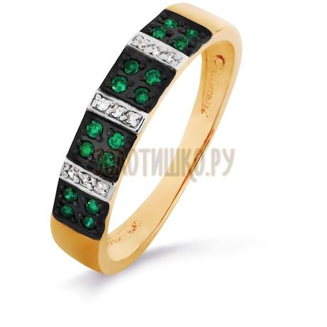 Кольцо с изумрудами и бриллиантами Т141016219-01_3