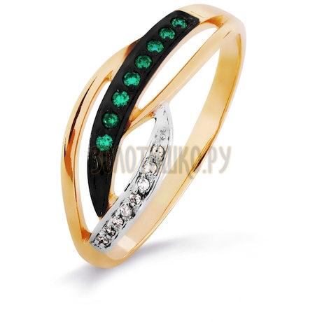 Кольцо с изумрудами и бриллиантами Т141016223-01_2