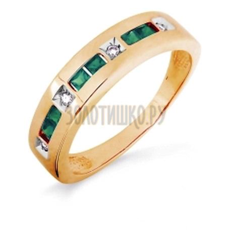 Кольцо с изумрудами и бриллиантами Т141016255-02