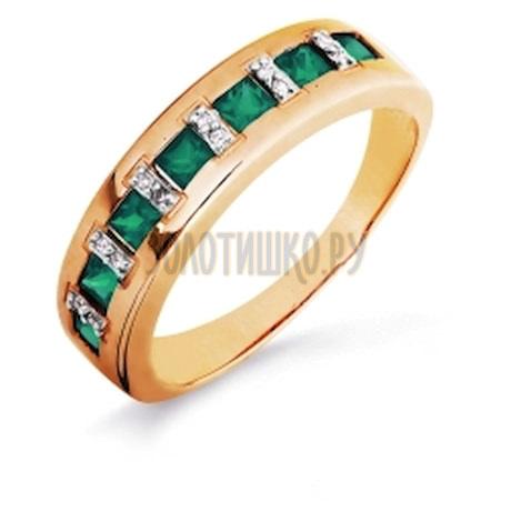 Кольцо с изумрудами и бриллиантами Т141016257-02