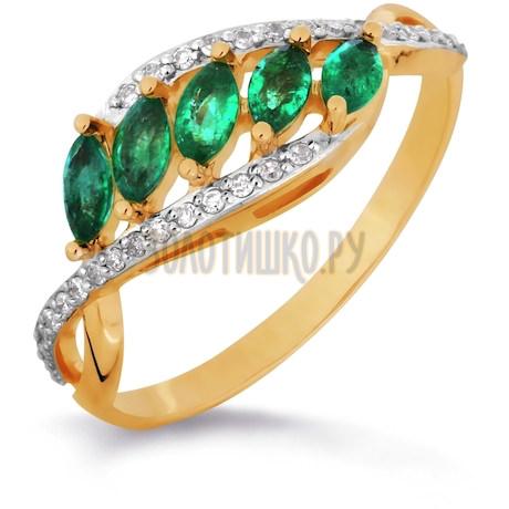 Кольцо с изумрудами и бриллиантами Т141016303