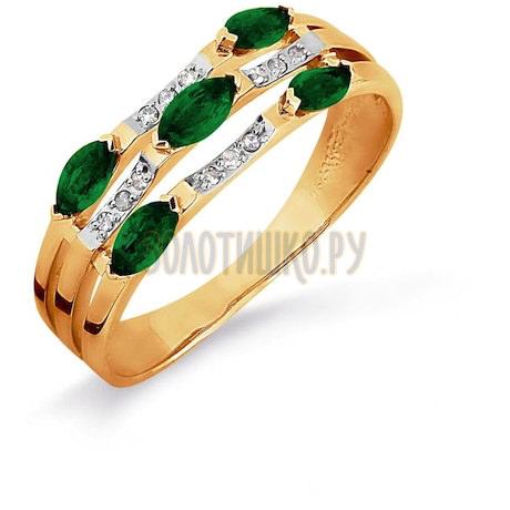 Кольцо с изумрудами и бриллиантами Т141016305_3