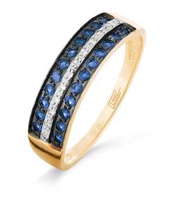 Кольцо с изумрудами и бриллиантами Т141016313