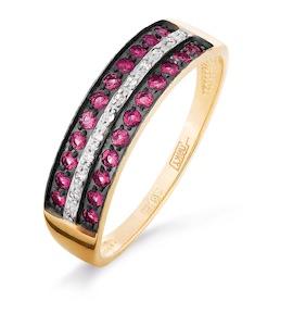 Кольцо с рубинами и бриллиантами Т141016313_2