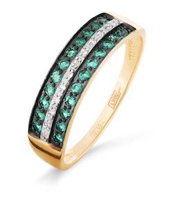 Кольцо с сапфирами и бриллиантами Т141016313_3