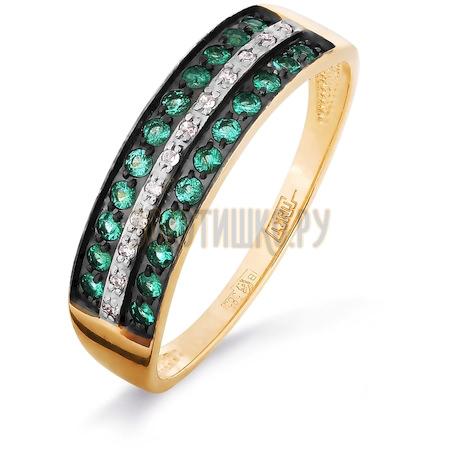 Кольцо с изумрудами и бриллиантами Т141016313_3