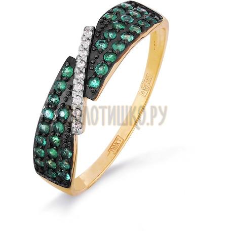 Кольцо с изумрудами и бриллиантами Т141016317_2