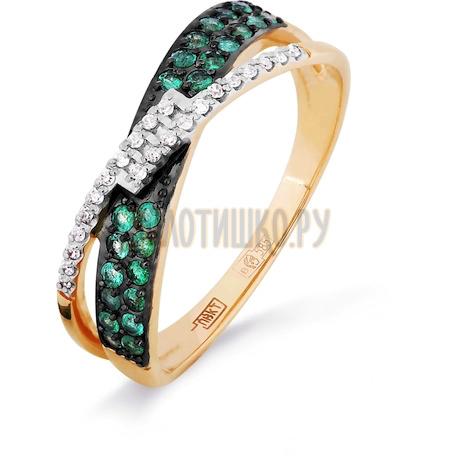 Кольцо с изумрудами и бриллиантами Т141016318_3