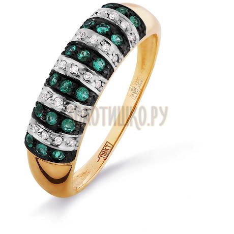 Кольцо с изумрудами и бриллиантами Т141016321_3
