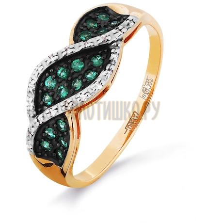 Кольцо с изумрудами и бриллиантами Т141016322_3