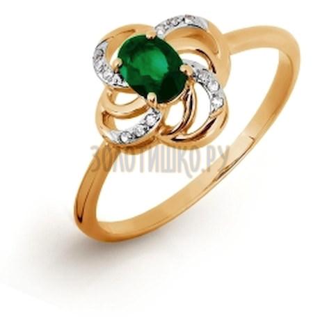 Кольцо с изумрудом и бриллиантами Т141016325-1_2