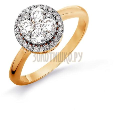 Кольцо с бриллиантами Т141016366-1