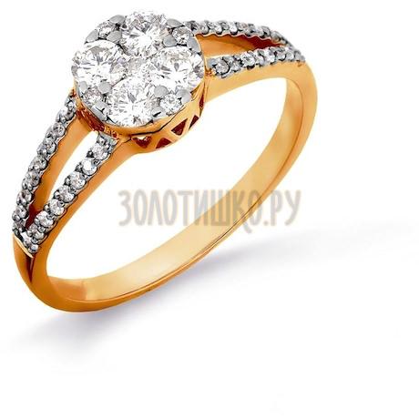 Кольцо с бриллиантами Т141016374-1