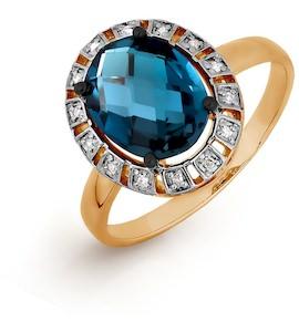 Кольцо с топазом и бриллиантами Т141016404