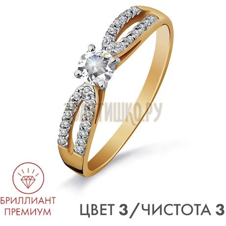 Кольцо с бриллиантами Т141016411-3