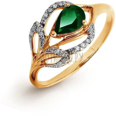 Кольцо с изумрудом и бриллиантами Т141016426_3