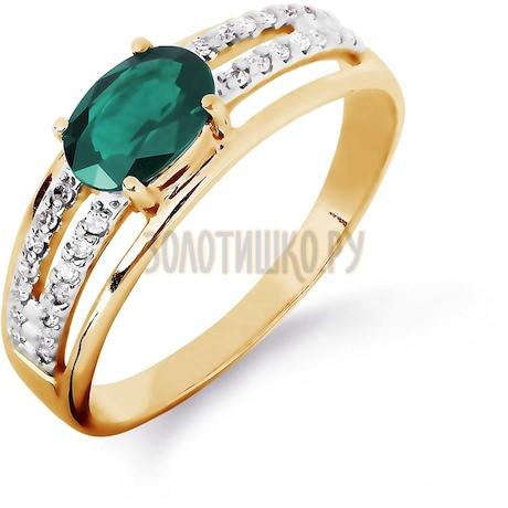 Кольцо с изумрудом и бриллиантами Т141016428_3