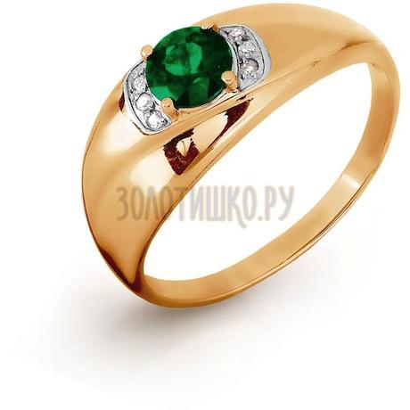 Кольцо с изумрудом и бриллиантами Т141016432_3