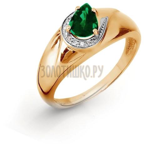 Кольцо с изумрудом и бриллиантами Т141016435_3